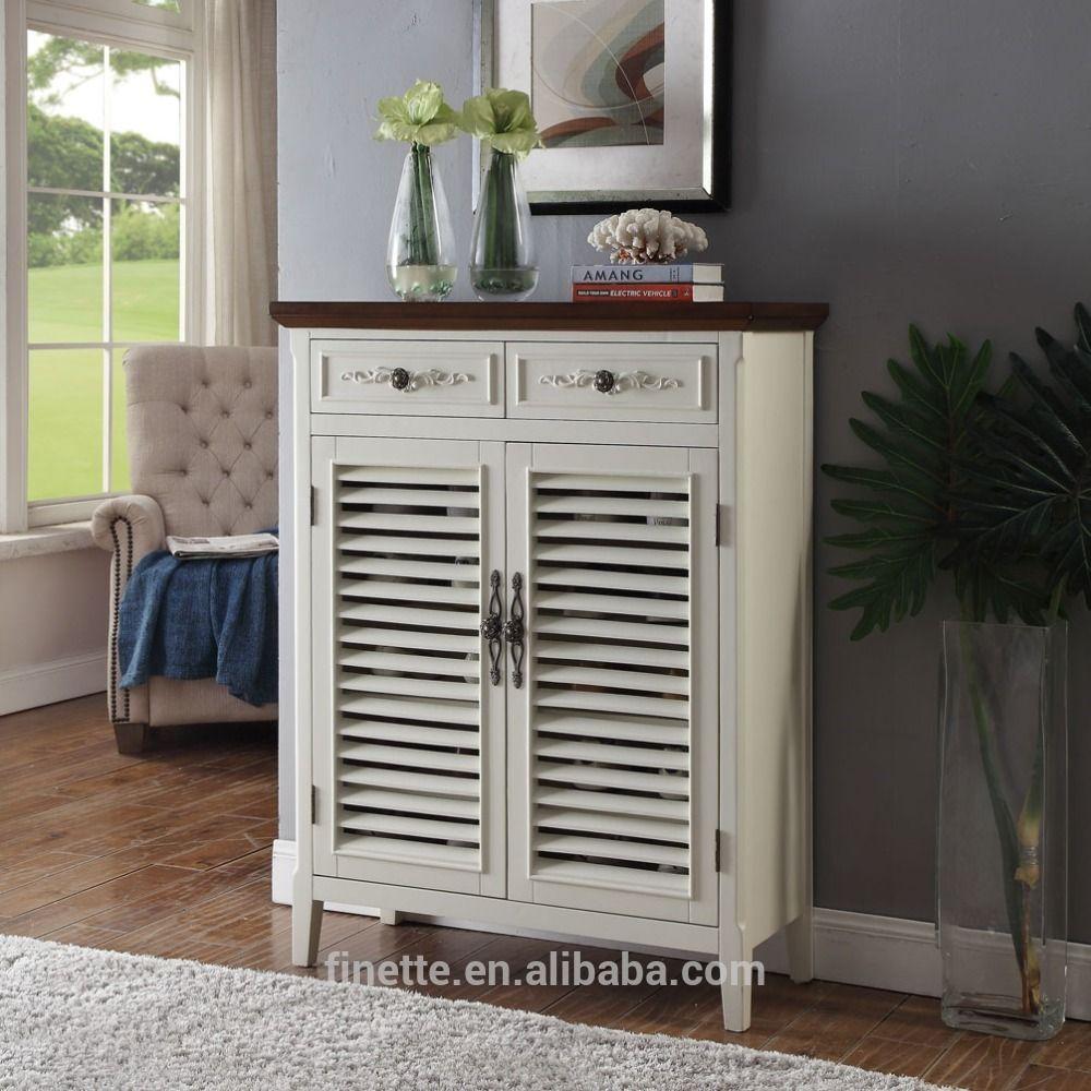 white louver door wood living room shoe storage