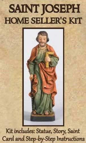 St Joseph Home Ing Kit Includes Small Statue Story Prayer Card And