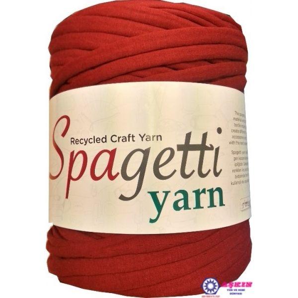 Spagetti Yarn tekstil endüstirisinden geri kazanılarak elde edilen hobi ipliğidir.Gelecek sezonun moda renkleri ile yaratıcılığınızı kullanarak bir birinden farklı takı aksesuar ve kullanışlı ev eşyaları tasarlayabilirsiniz.Needle 10 mm to be used Hook : 10 mm Quantity: ~ 500 g.