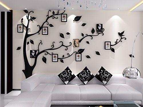 Arbre avec oiseaux cage Wall Art Decal Stickers vinyle amovible Décoration Salon