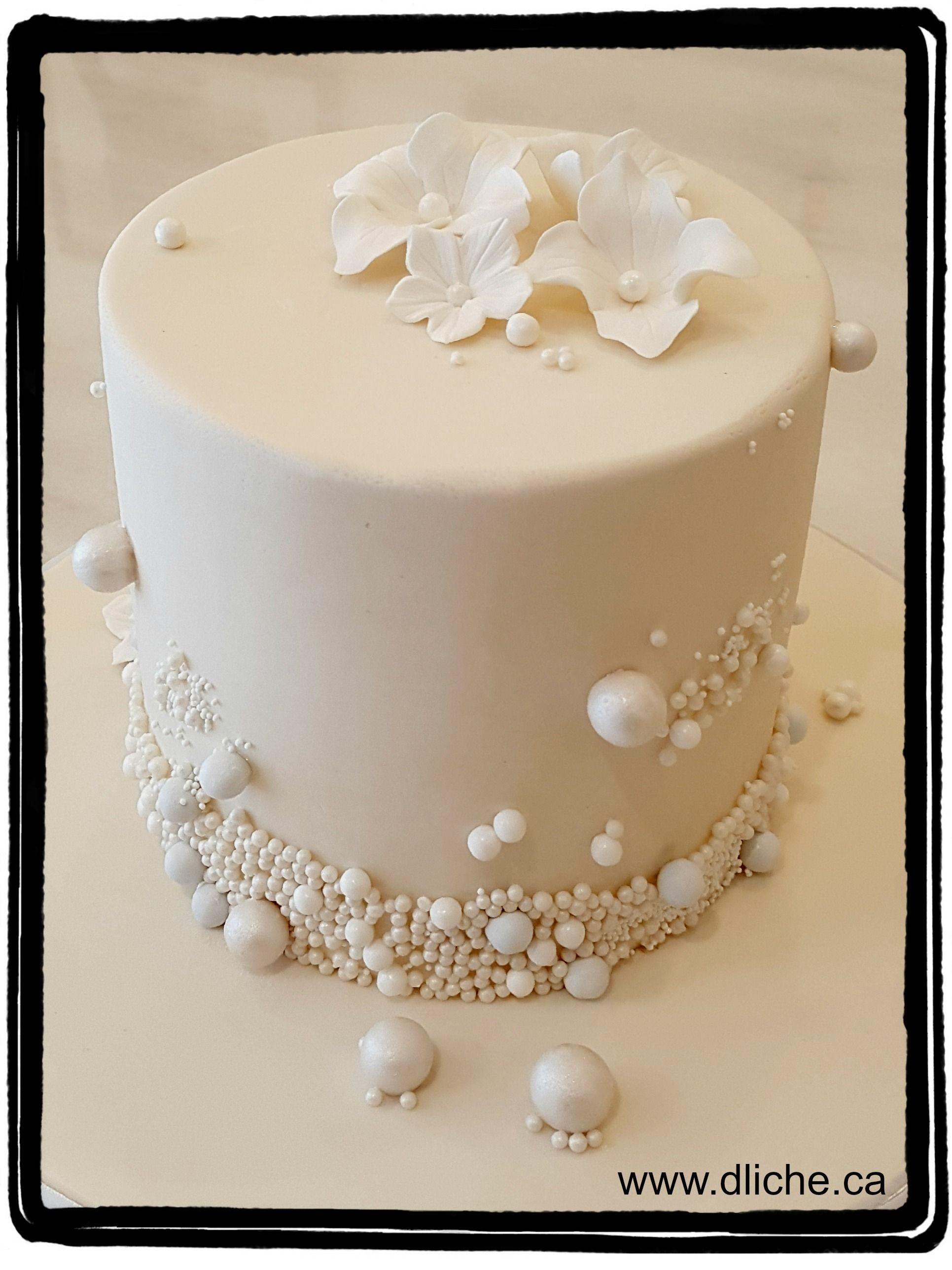 White pearl cake   Pearl cake, 30th anniversary cake, Cake