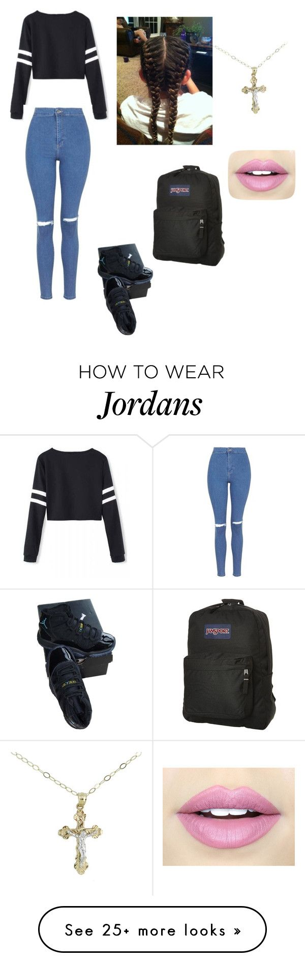 """""""Party's all day tommarow in school"""" by cy010604 on Polyvore featuring NIKE, Topshop, JanSport and Fiebiger"""