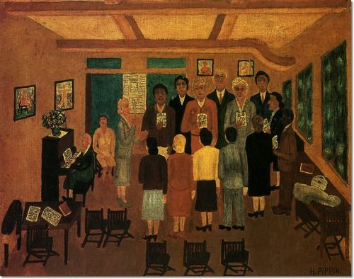 Horace Pippin Paintings Horace Pippin Choir Practice By Horace