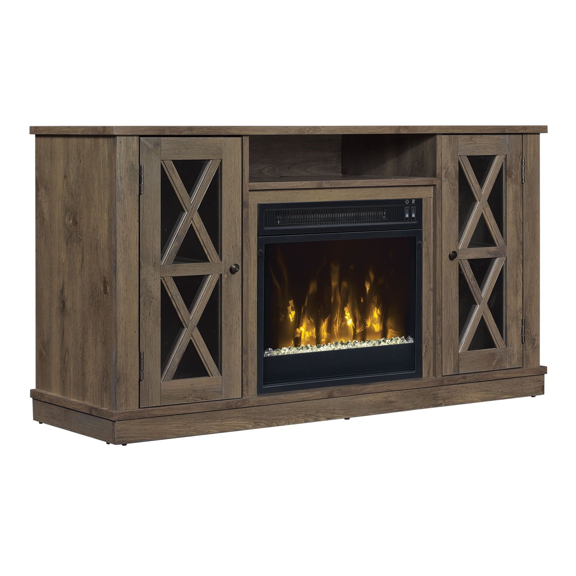 star bayport tv stand for tvs up to 55 inches with electric
