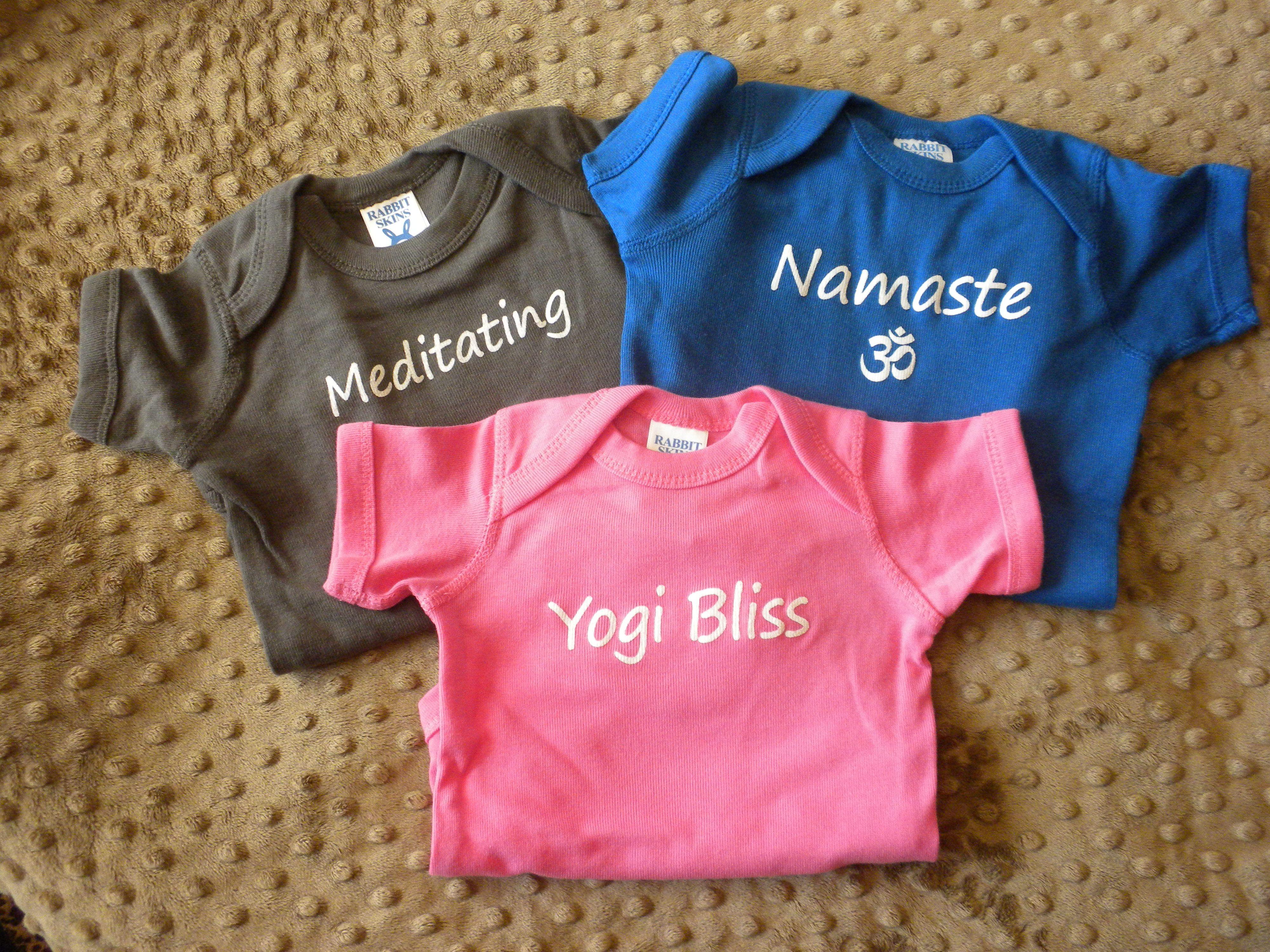 Adorable Yoga Onsies....http://www.ebay.com/itm/Meditating-Yoga-Baby-Onsie-NB-or-6-months/171402205191?_trksid=p2047675.c100005.m1851&_trkparms=aid%3D222007%26algo%3DSIC.MBE%26ao%3D1%26asc%3D20131003132420%26meid%3D8682894192607861941%26pid%3D100005%26prg%3D20131003132420%26rk%3D1%26rkt%3D6%26sd%3D171402206754&rt=nc