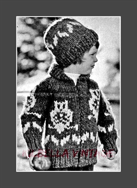 Cowichan Sweater Knitting Pattern White Buffalo Wool