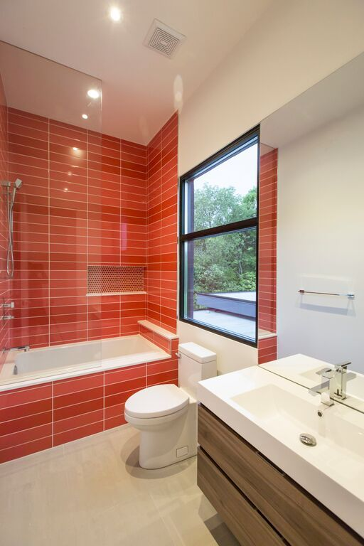 Bathroom Tiles Colours bloc & picacéragrès | avenue design #bathroom #tiles #colours