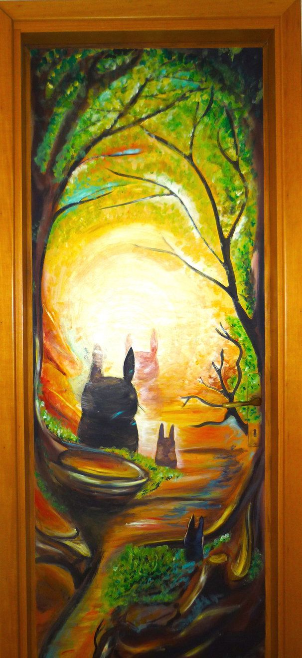 Totoro door :) by WormholePaintings on DeviantArt