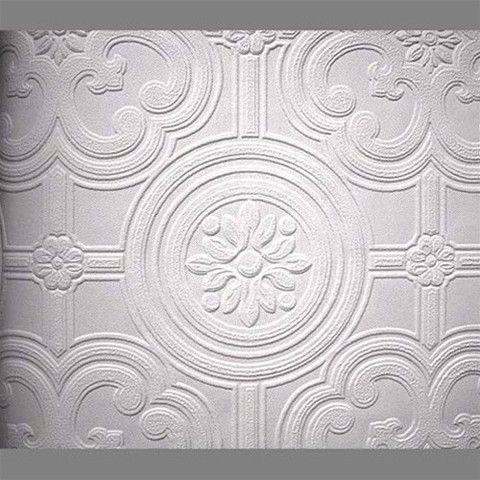 Papermywalls anaglypta premium textured vinyl egon classical paintable wallpaper