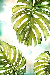 Painting - Colorful Palm by Mauro DeVereaux | Art | Painted leaves