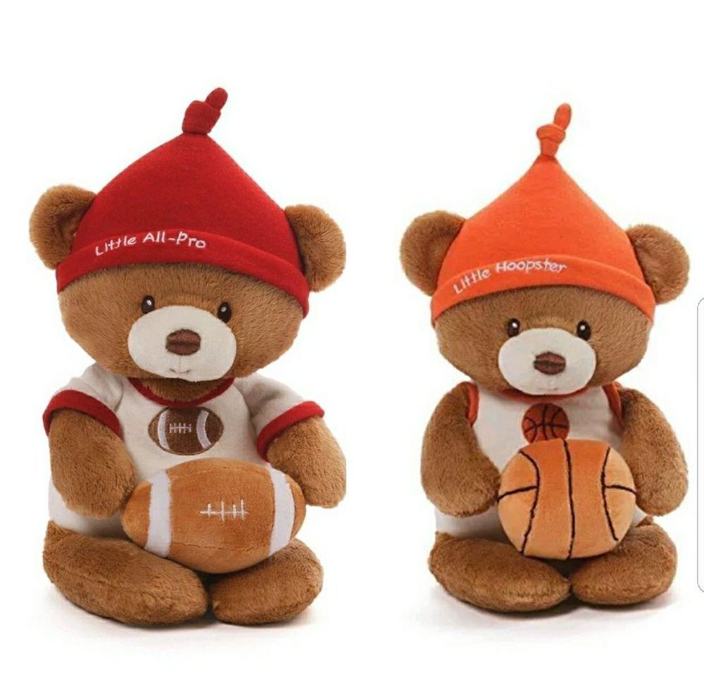 Baby Gund Little All Pro Little Hoopster Plush Teddy Bear Stuffed Animal Rattle Gundbaby Teddy Bear Teddy Bear Stuffed Animal Teddy Bear Plush [ 973 x 1000 Pixel ]