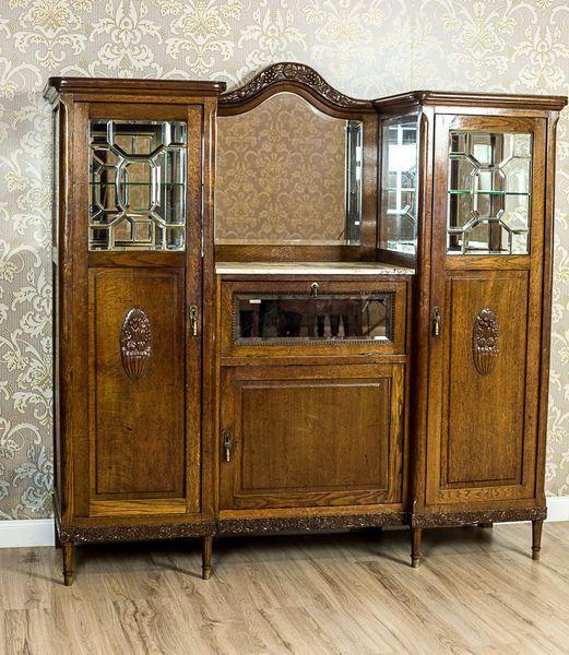 Oak Art Nouveau Cupboard Circa 1910 1920 Antiquefurniturestyles