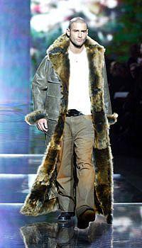 Long Fur Lined Leather Coat Sean John Menswear In 2019