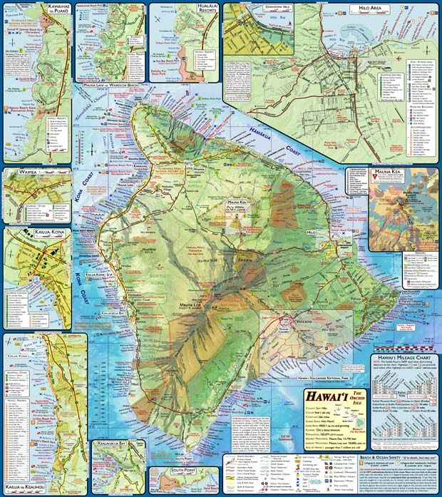 Maps and information about the Big Island, including ...