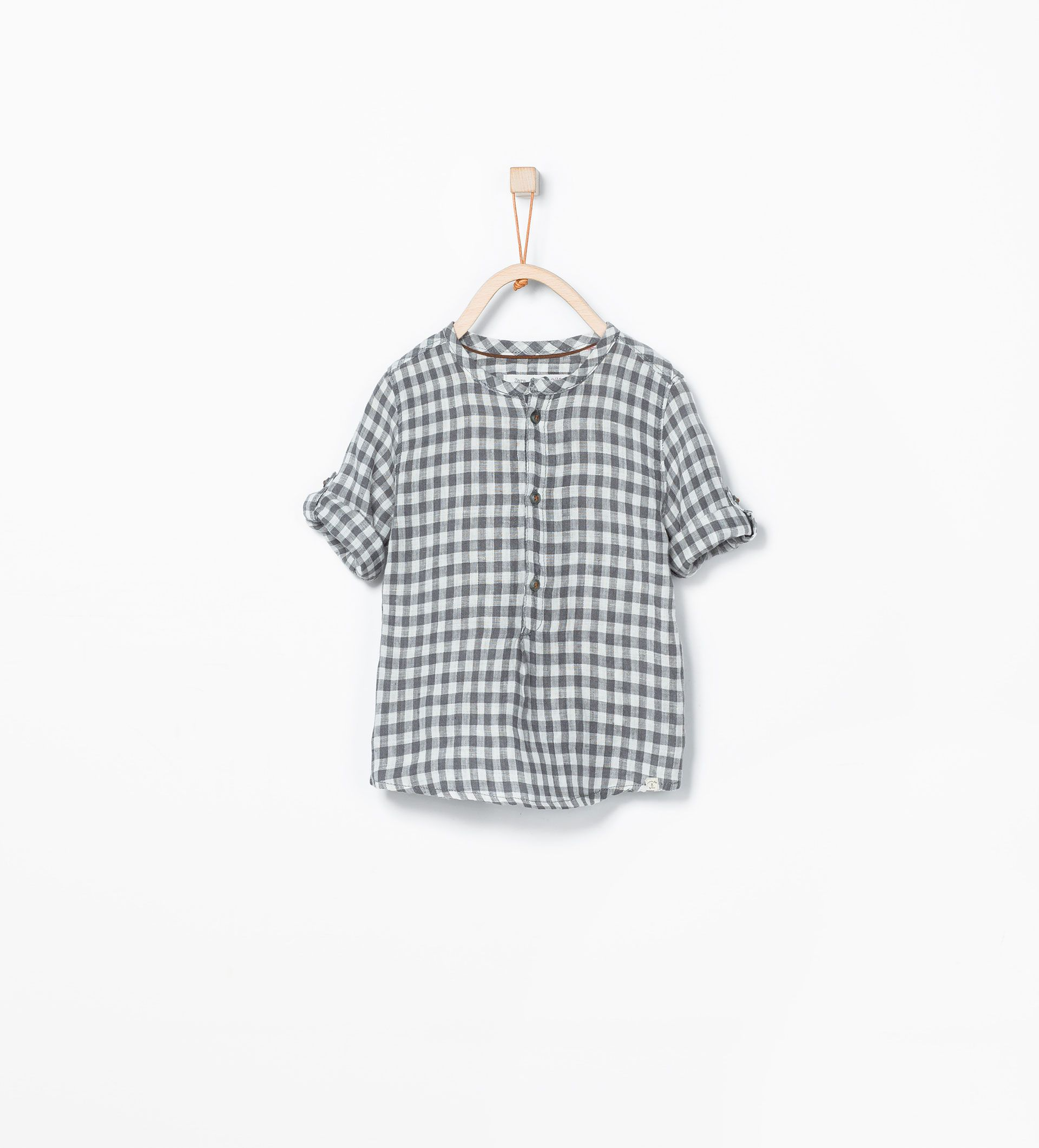 ZARA - KIDS - Roll-up sleeve check shirt | niños | Pinterest