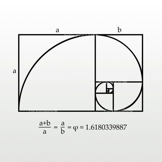 Phi Symbol Svg Png Files Etsy Space And Astronomy Golden Ratio Math Wall