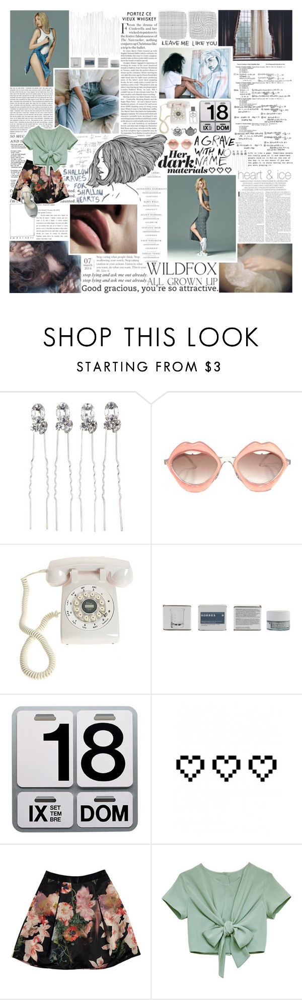 """now i'm so high."" by nevi ❤ liked on Polyvore featuring Chandelier, RETROSPECS, Crosley, Korres, Wildfox, Danese, Retrò and Ted Baker"
