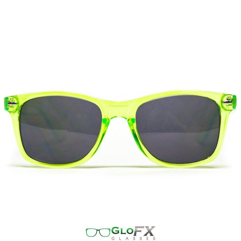 f6758bbc4f280 GloFX Diffraction Glasses – Transparent Green Tinted