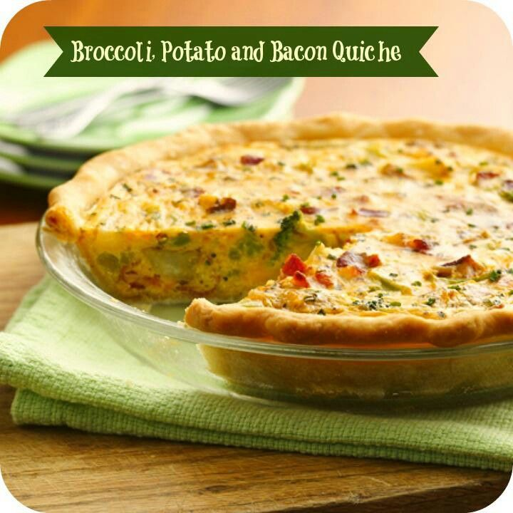 Broccoli, Potato, Bacon Quiche