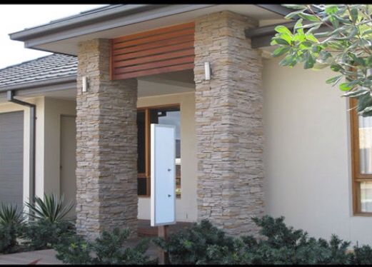 Stacked Stone For Front Entrance Stone Veneer Wall Facade