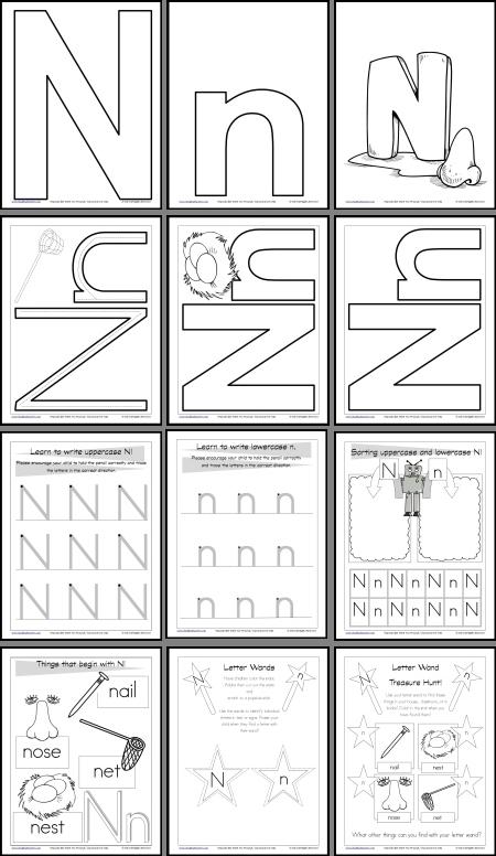 letter n worksheets and resources itsy bitsy learners education pinterest worksheets. Black Bedroom Furniture Sets. Home Design Ideas