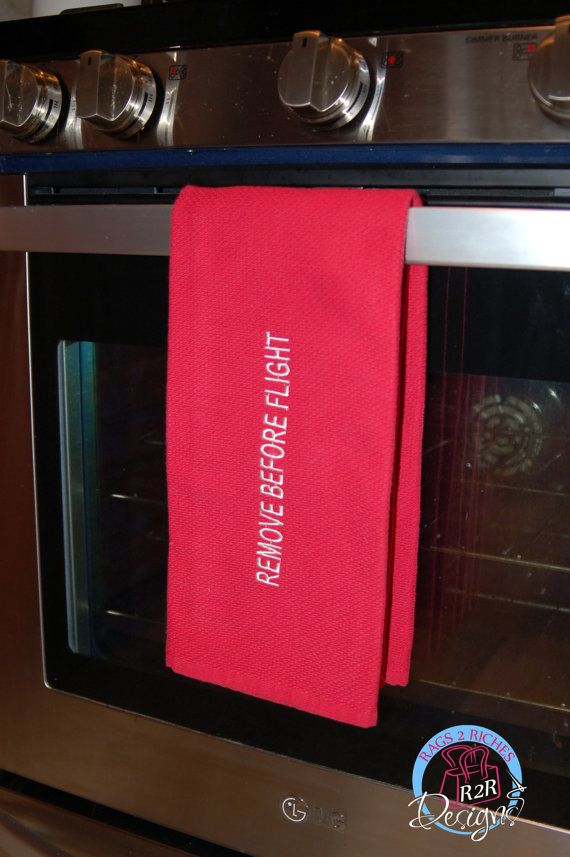 Remove Before Flight Kitchen Towel by R2RDesigns on Etsy, $15.00