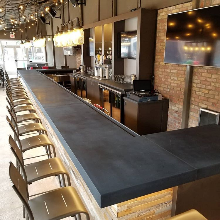 Big concrete bar top we made for the Improv at the ...
