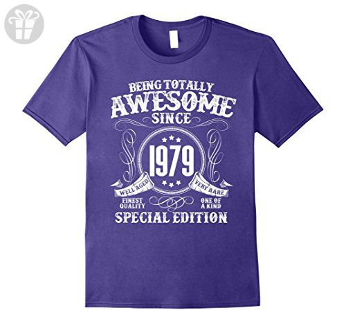 Mens Awesome Birthday T-Shirt For Men/Women Who Born In 1979 Medium Purple - Birthday shirts (*Amazon Partner-Link)