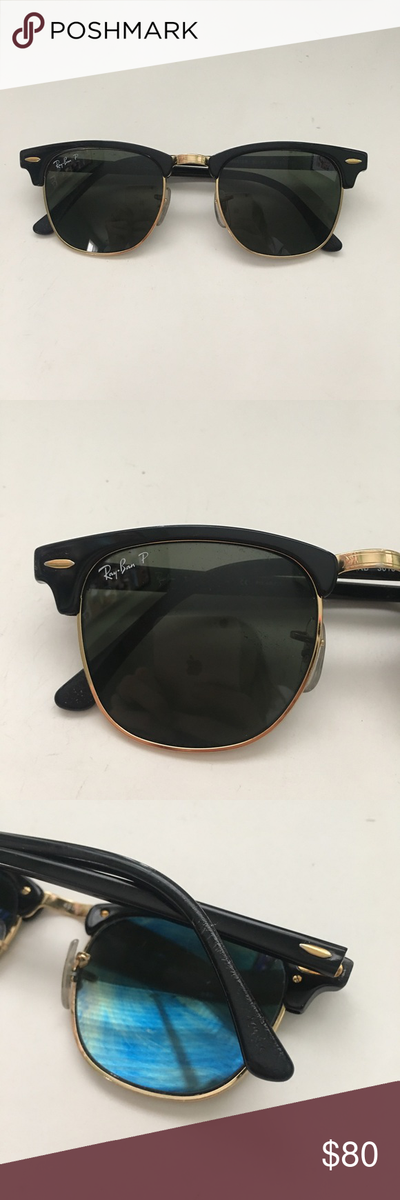 dd19c68b2e5 Listing not available. Ray Ban Polarized Clubmaster - Black Model code  RB3016  901 58 49-21 ...