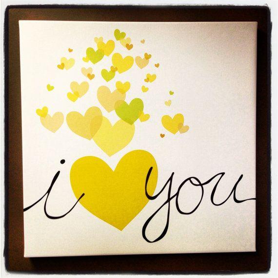 Yellow Hearts 28x28\
