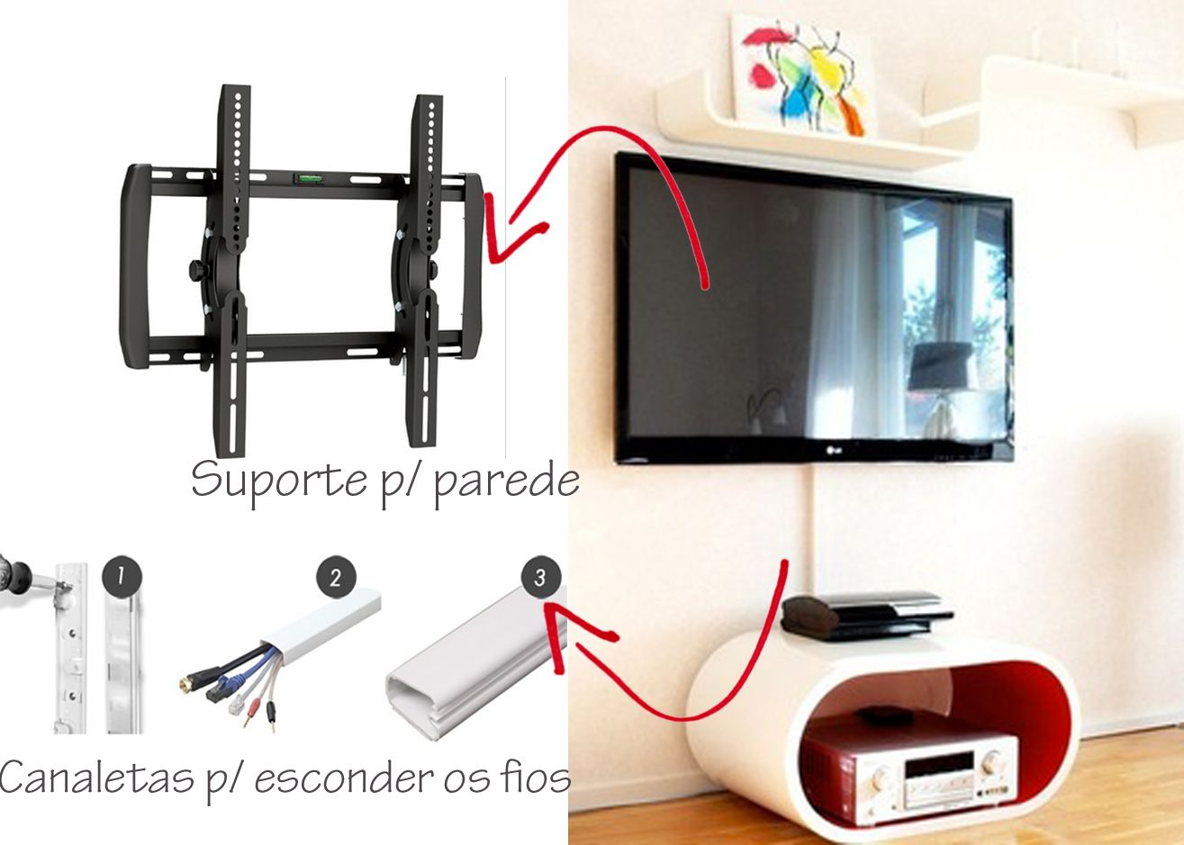 COMO ESCONDER OS FIOS DA TV? | As Arquitetas | HOW TO | Pinterest
