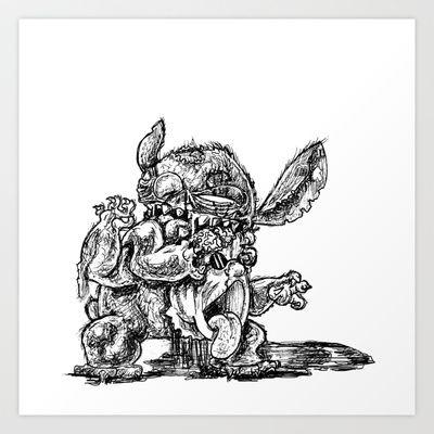 Zombie Stitch | Disney's Lilo and Stitch Art Print by ...