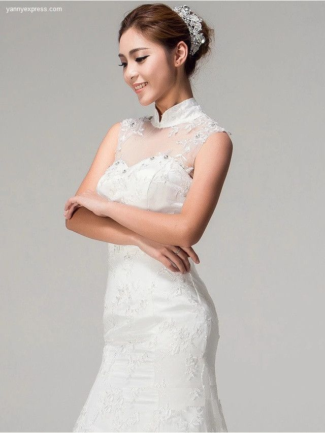 Chinese Collar Wedding Gowns