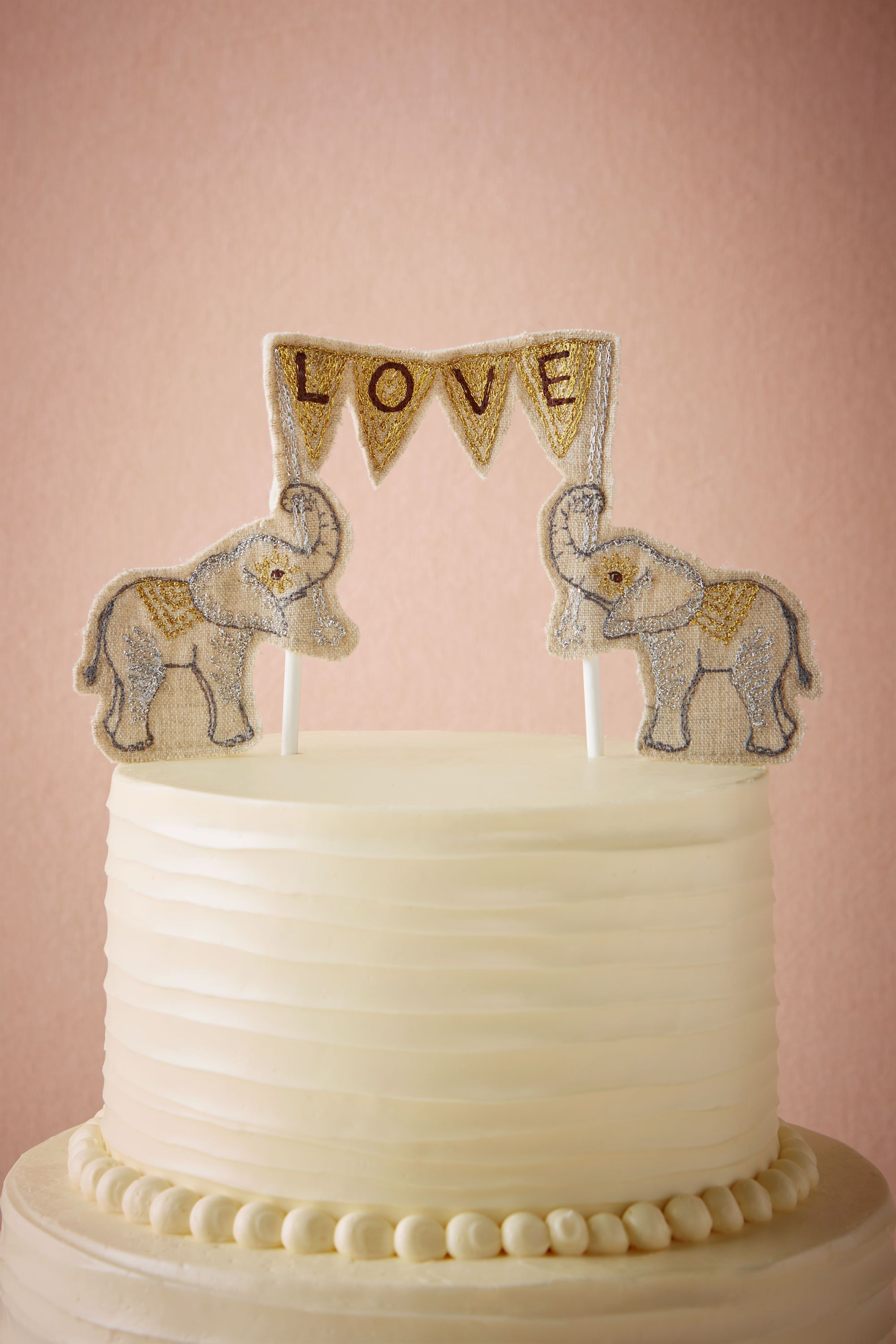 Bhldn Lovesome Elephants Cake Topper In Gifts Décor Accessories