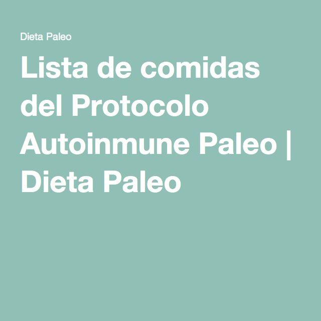 Lista de comidas del Protocolo Autoinmune Paleo   Dieta Paleo