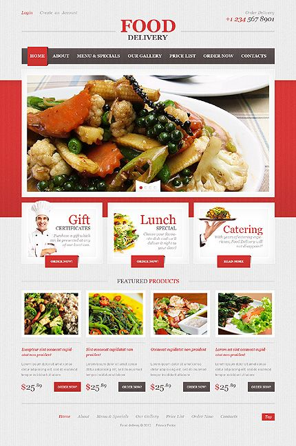 Delivery services website template restaurant web template and delivery services website template pronofoot35fo Choice Image