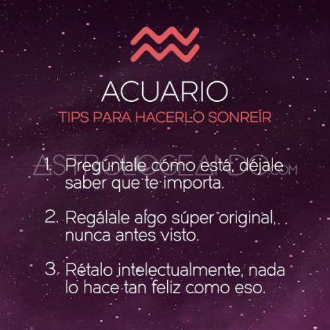 Tips para hacer sonre r a los signos acuario signos y for Horoscopo para acuario