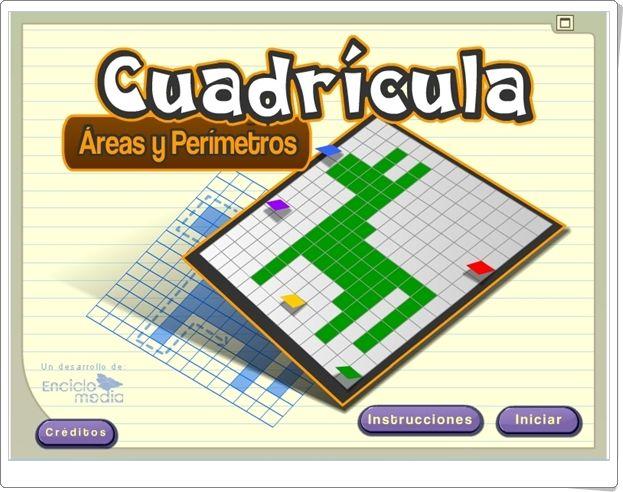 Cuadricula Areas Y Perimetros Aplicacion De Geometria De