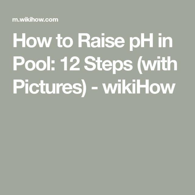 Raise Ph In Pool With Images Pool Raised Pools Cool Pools