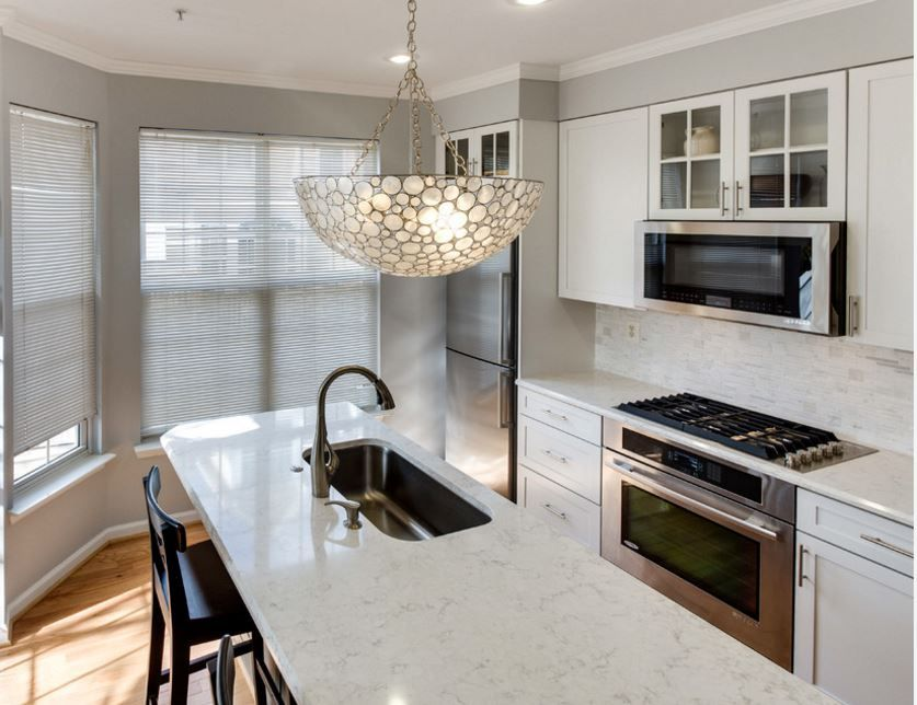 Viatera Minuet Kitchen Quartz Countertops Kitchen Backsplash