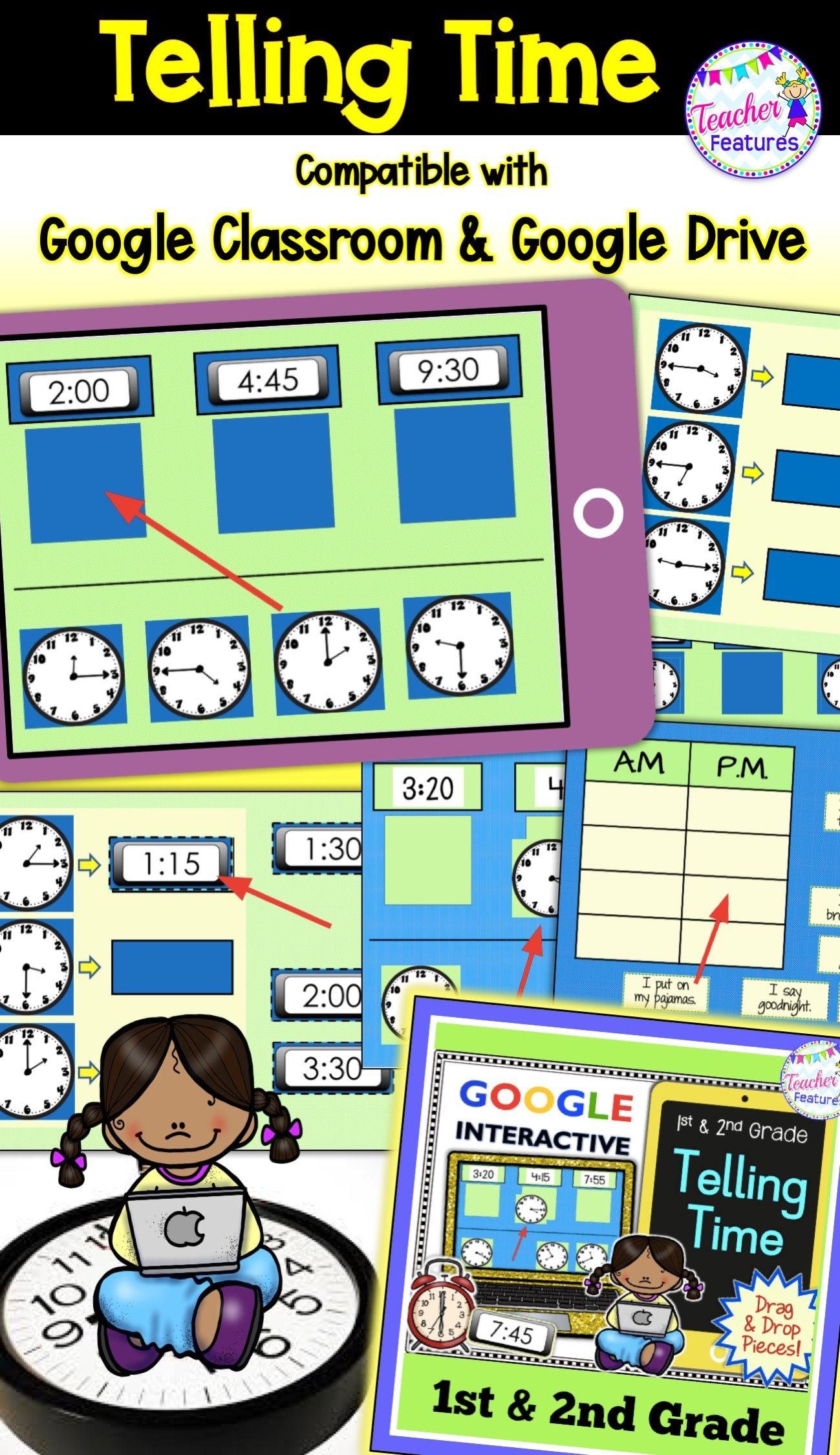 Classroom Math Telling Time Paperless Activities Teaching