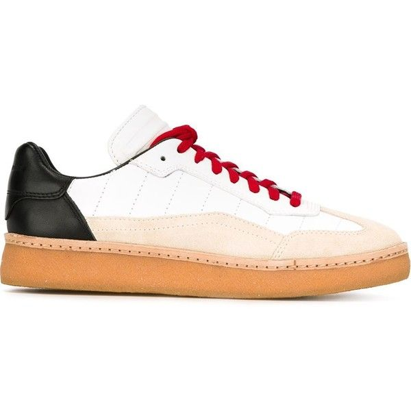 Alexander Wang 'Eden' sneakers (615 BRL) ❤ liked on Polyvore featuring shoes, sneakers, white, leather lace up sneakers, lace up sneakers, lace up shoes, white leather shoes and alexander wang sneakers