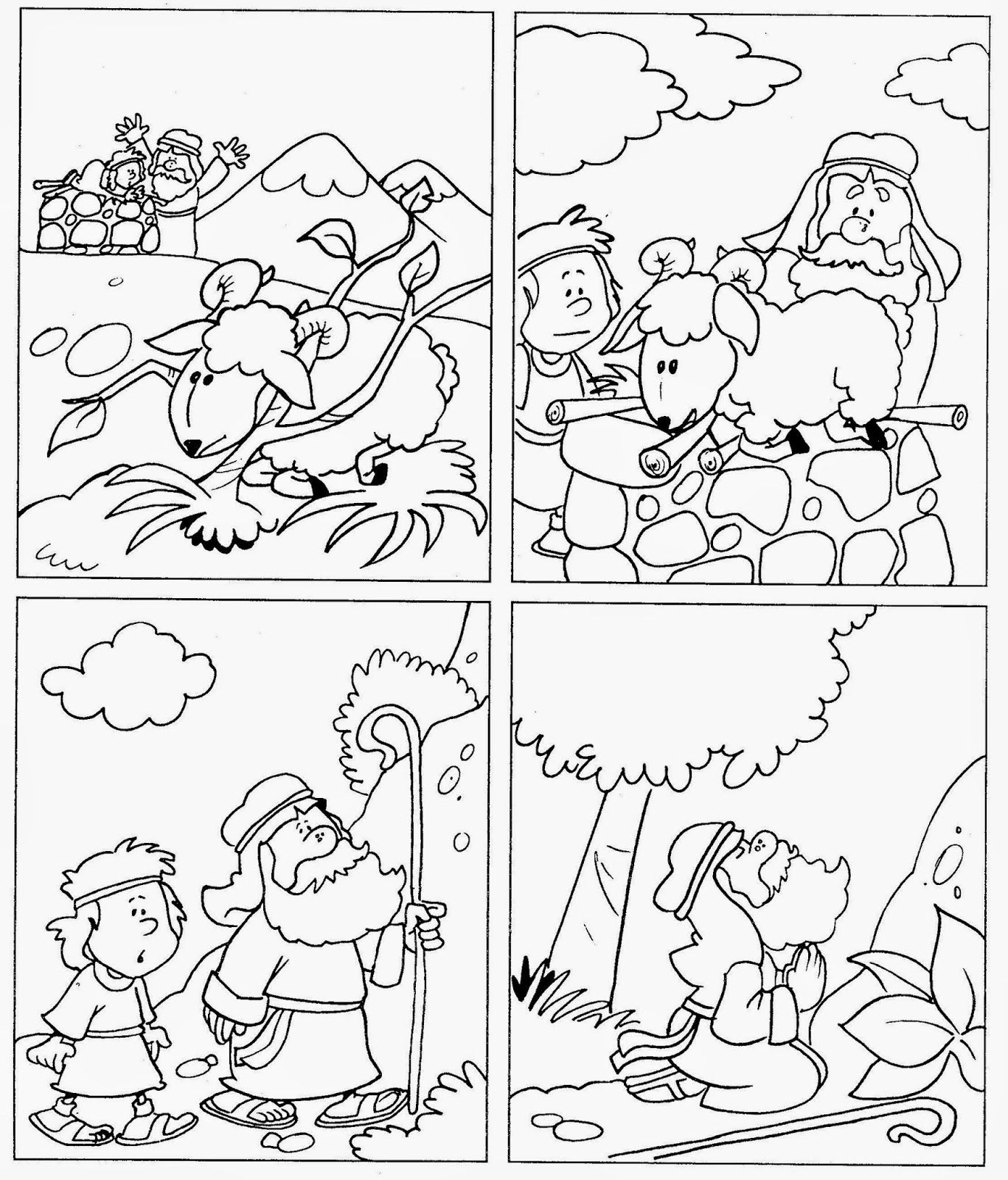Historia Abraham E Isaac Para Colorear