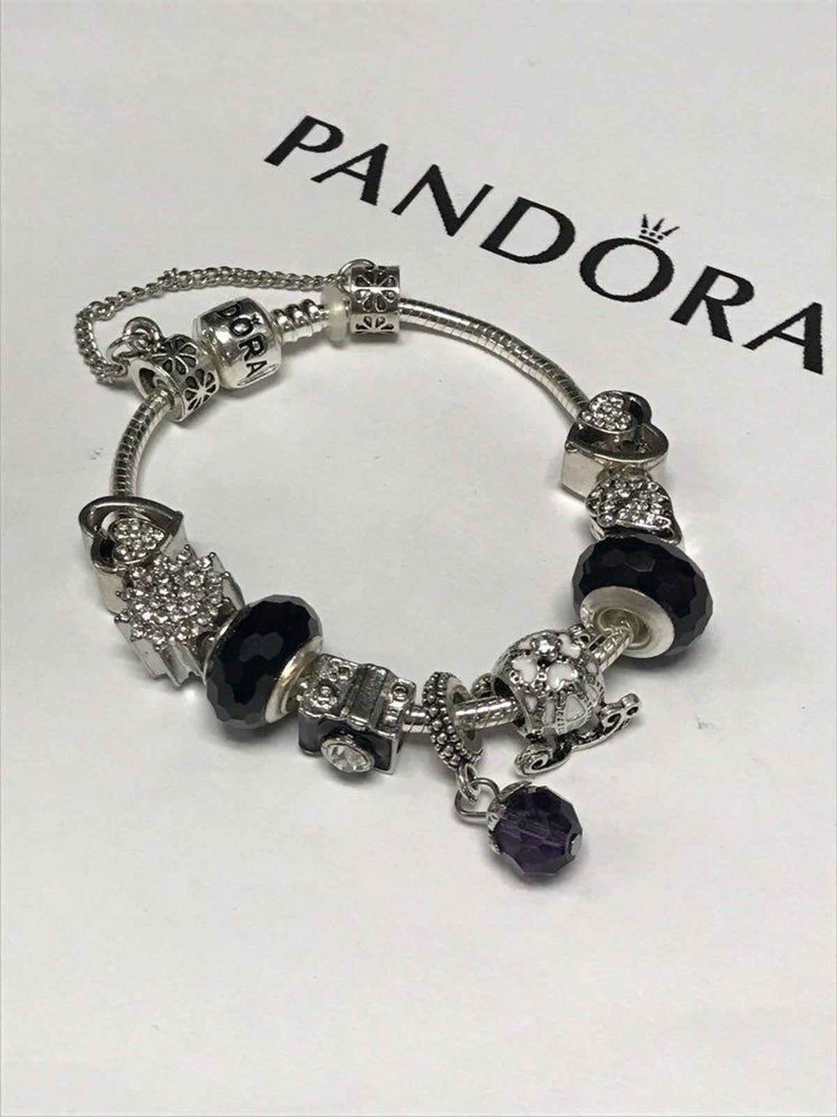 Pandora Black Charm Bracelet In 2020 Black Pandora Bracelet Pandora Black Pandora