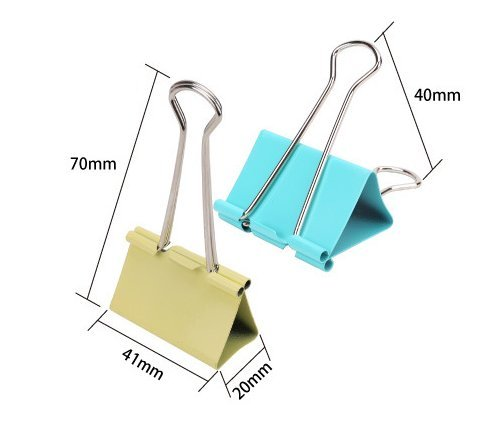 Colorful Metal Paper Binder Clips Assorted