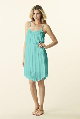 Michael Stars Diana Dress Shirred Scoopneck Cami Dress
