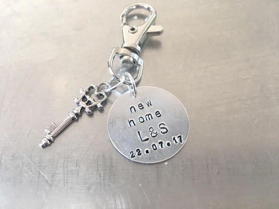 New Home Keyring Personalised Customised House Gift Moving Present In Keychain Boyfriend Friend Husband Wife