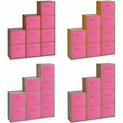 étagères en chêne - bingefashion.com/fr #salonmoderne
