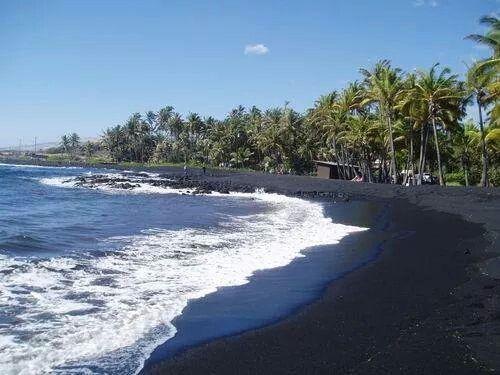 شاطئ الرمل الاسود هاواي Hawaii Beaches Big Island Hawaii Black Sand Beach Hawaii