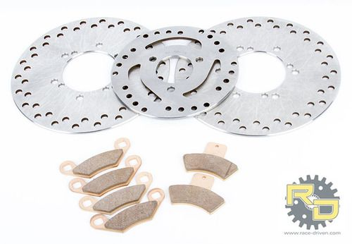 2000 2001 2002 Polaris 500 Sportsman Front Brakes Brake Pads and Brake Rotors
